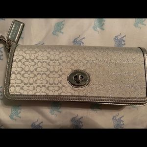 Brand new Coach Silver C handbag w/ store packing